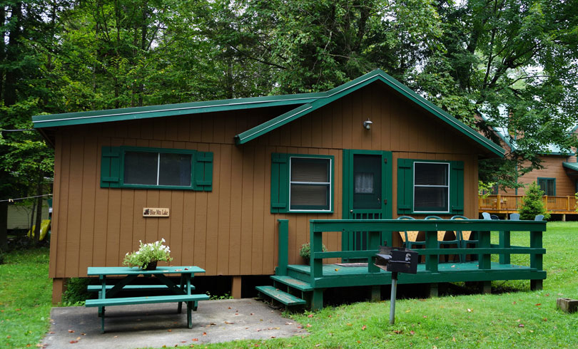 Blue mountain lake lodge cottage to rent sunset beach Cottages of camp creek